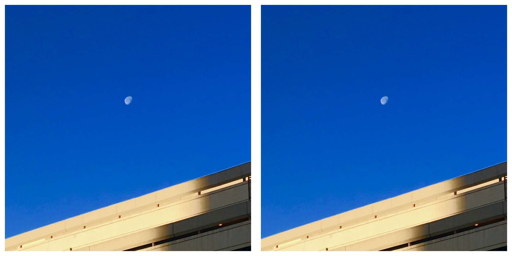 Moon in the early morning before sunrise at Phoenix